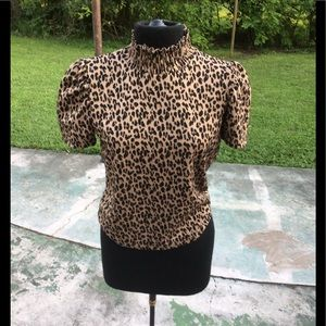 COPY - Zara leopard print high neck medium stretc…